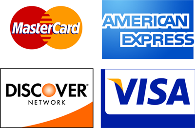 Yes, we accept credit cards!